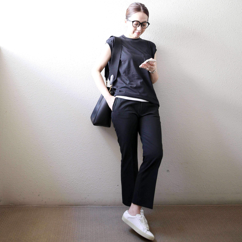 【真夏こそ映える黒コーデ】重たく見えず、シックに決まるアラフォーの黒コーデまとめ|40代ファッション_1_20