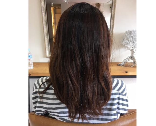 ベージュ艶カラーで春の髪準備。_1_2