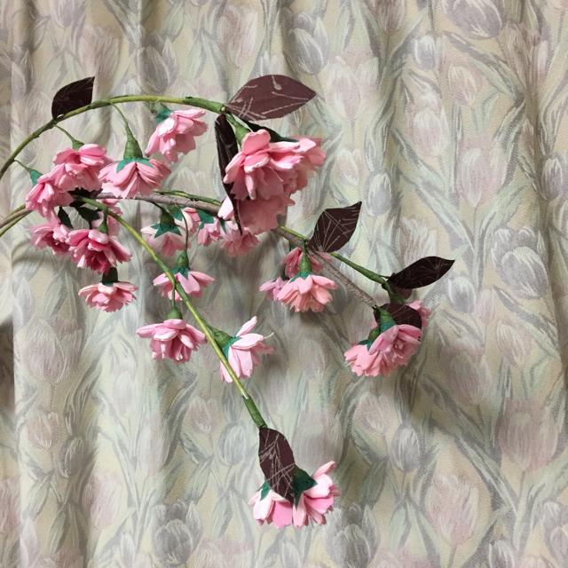 待ち遠しい桜の季節。手縫いの桜でお花見しています_1_1