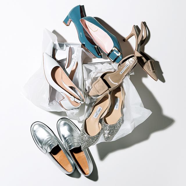 戸野塚さんがピックアップしたこの春の装いのイメージに合う靴