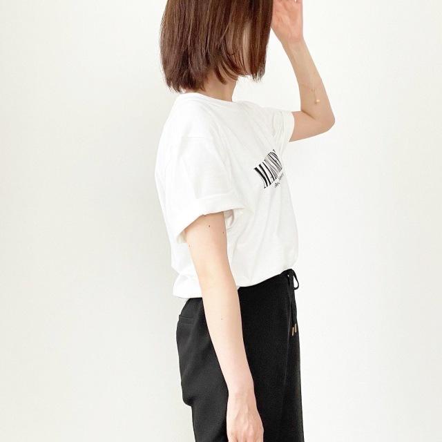 今年1枚は欲しい!オーバーサイズロゴTシャツ【tomomiyuコーデ】_1_2