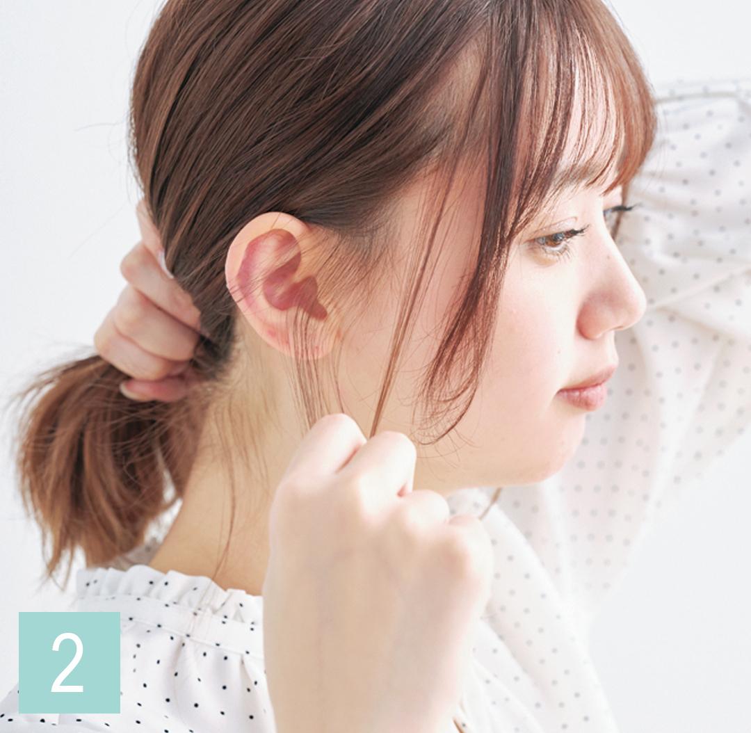 巻き髪アレンジ♡ ミディアムさんの仕込み技を超ていねい解説!_1_3-2
