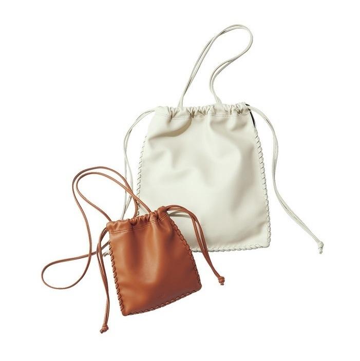 ヴァジックのマチなし巾着バッグ