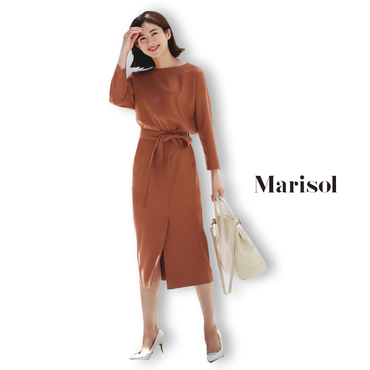 40代ファッション ワンピース風セットアップコーデ