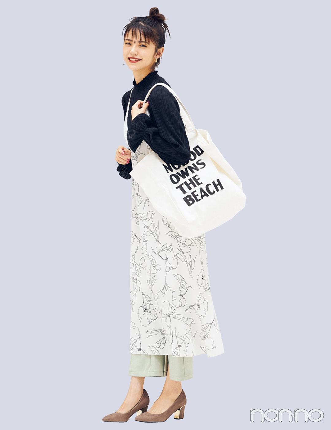 title:カジュアル派の毎日バッグに「白キャンバストート」は外せない