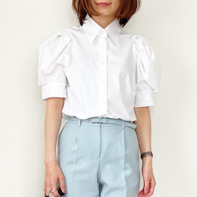 春の白シャツ4スタイル全てお見せします!【tomomiyuコーデ】_1_2