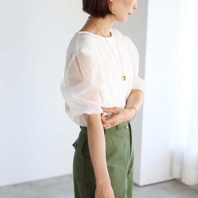 ふんわり袖が大人可愛い!パフスリーブTシャツ【tomomiyuコーデ】_1_8
