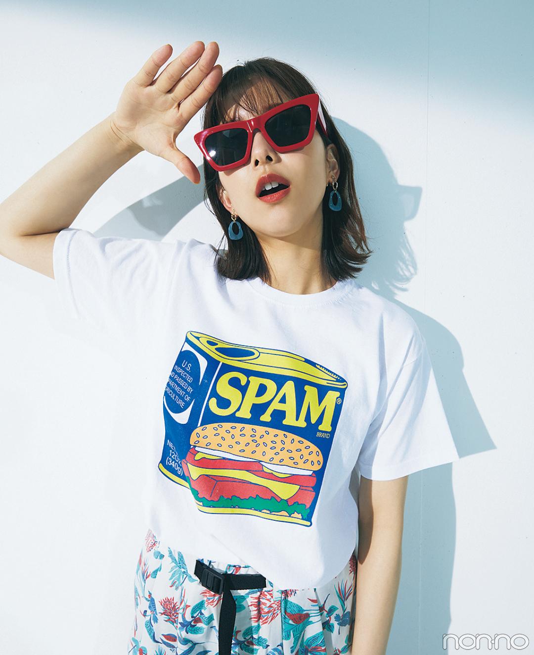 渡邉理佐の毎日Tシャツコーデ 7/5 スパムが発売された日
