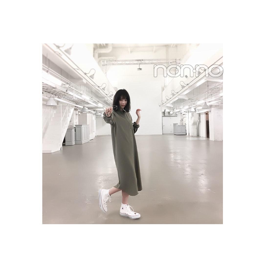 """毎日コーデ★西野七瀬は落ち感シャツワンピで""""いい女""""♡_1_1"""