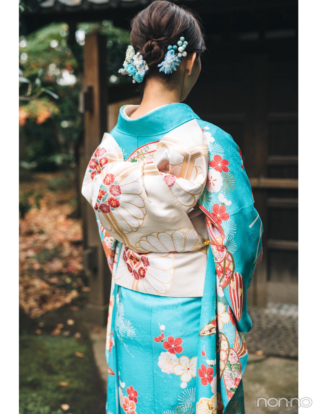 渡邉理佐の振袖コーデ♡ フレッシュな水色は白の帯で清楚な雰囲気に【成人式2019】_1_2-2