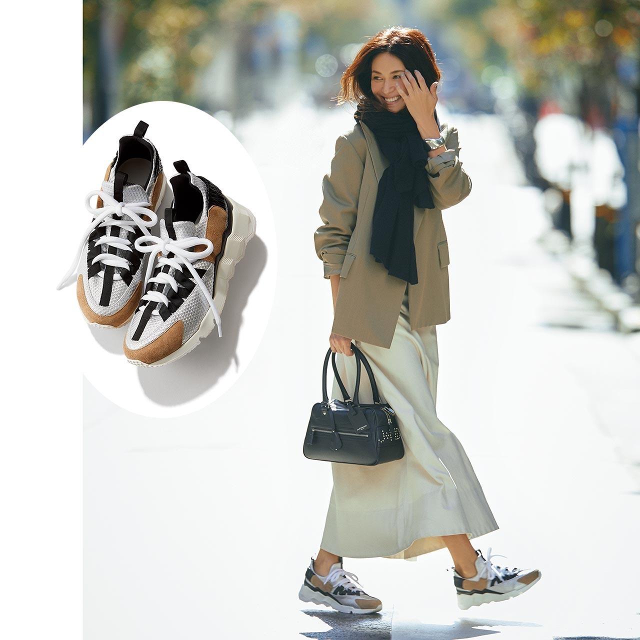 ジャケット×スニーカーのファッションコーデ