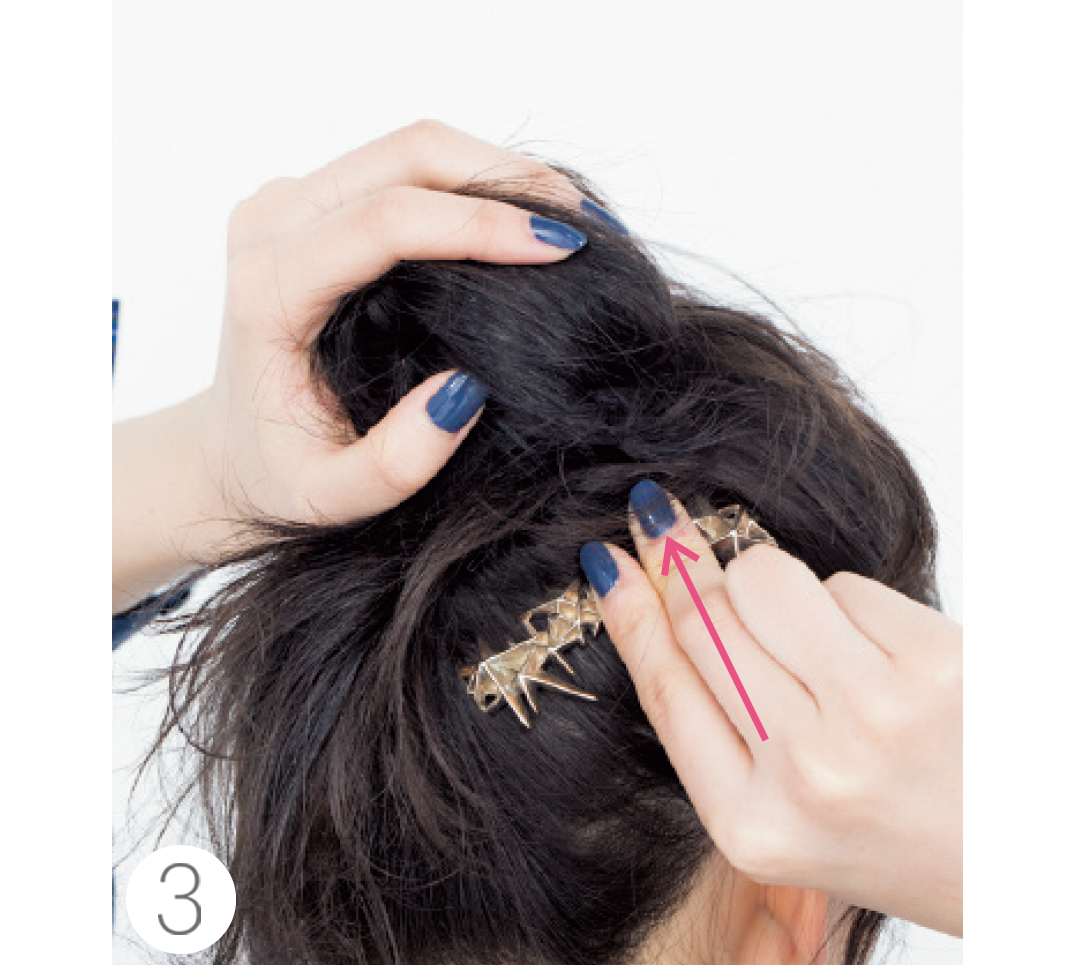 今っぽコームでヘアアレンジ♡ まとめ髪にプラスしてキュートに!_1_3-3