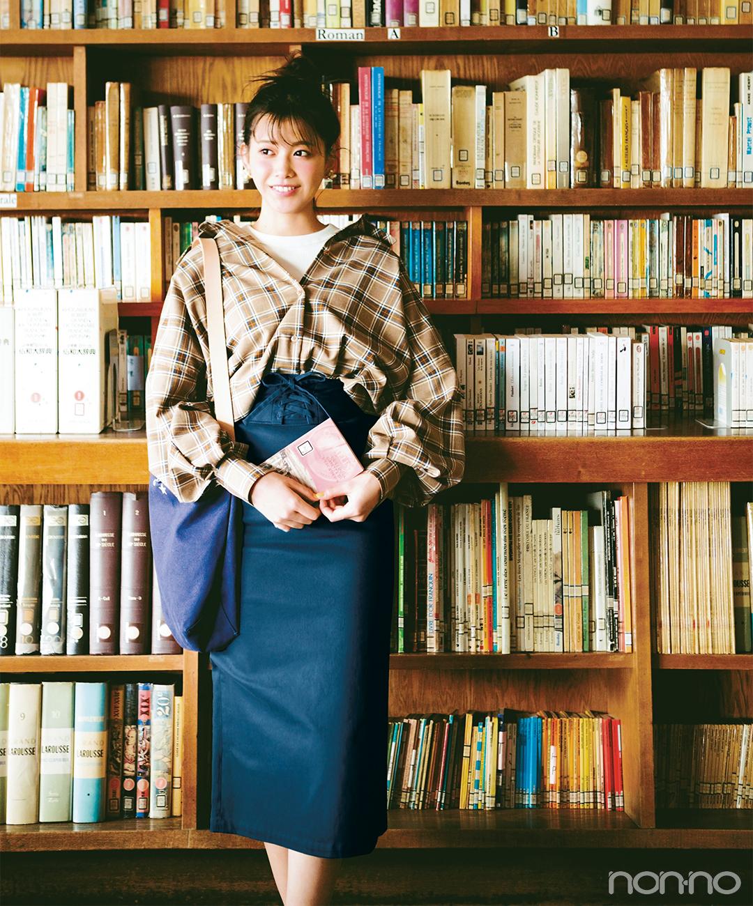 渡邉理佐はビッグシャツとタイトスカートでトレンドカジュアル【毎日コーデ】_1_1