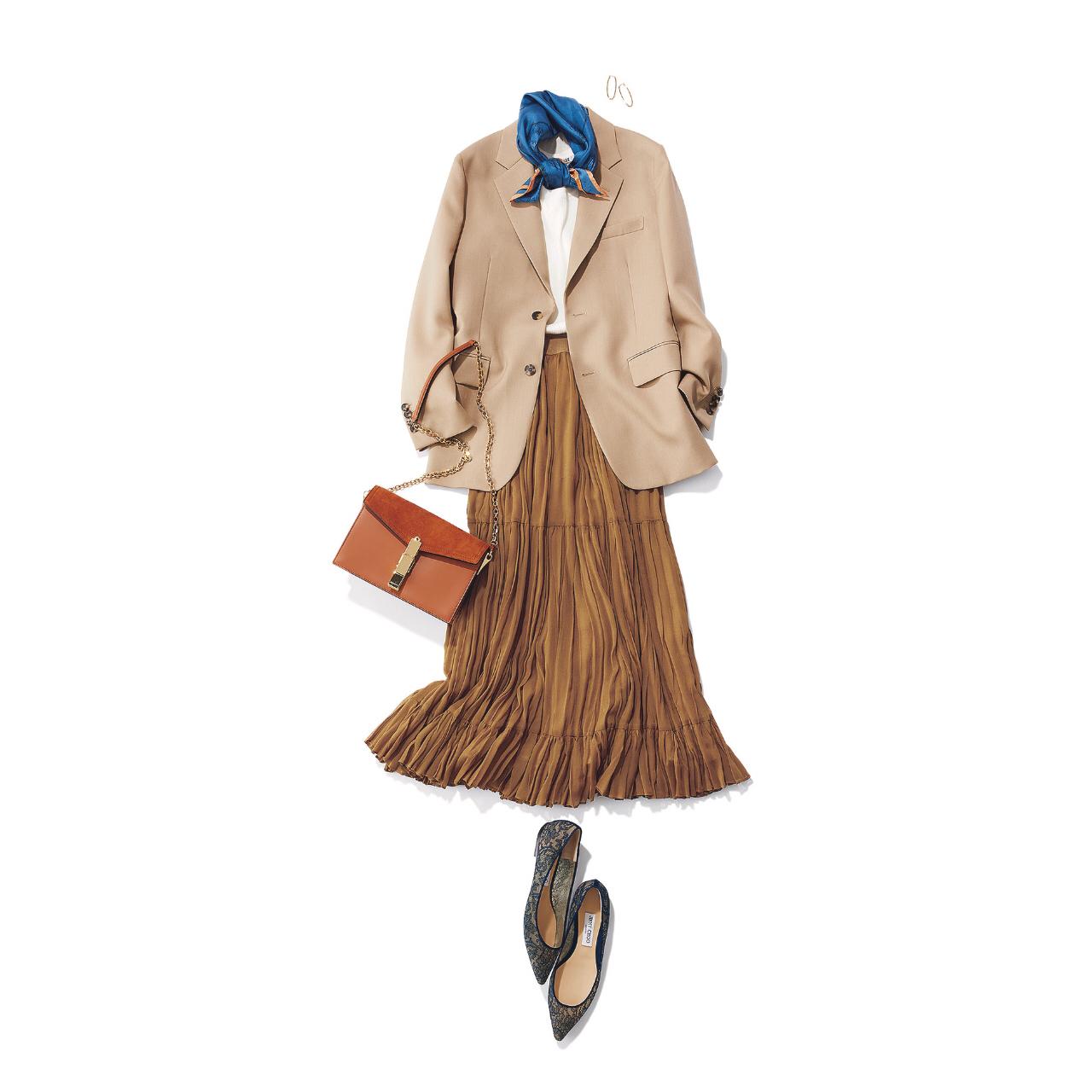 夏のブラウンで品よくこなれる! 大人のプチプラ高見えも叶えるブラウンコーデまとめ 40代ファッション_1_9