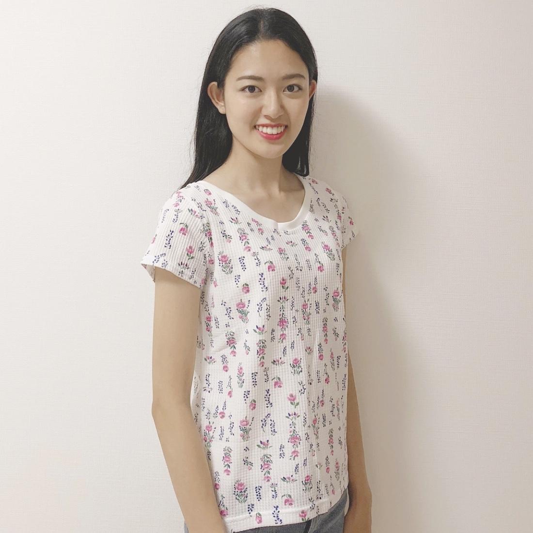花柄ワッフルTシャツ♡_1_3