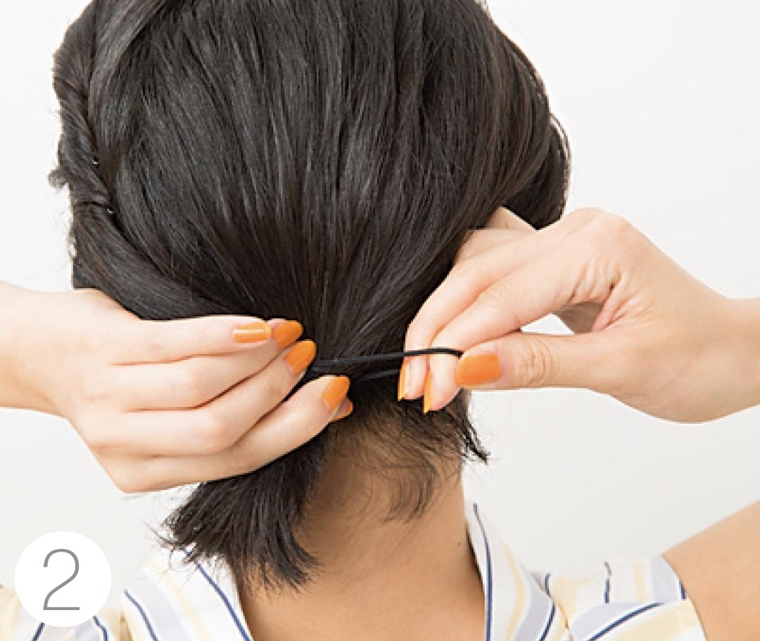 ボブのまとめ髪ヘアアレンジが簡単にできる方法♡【夏美容の100のアンサー!】_1_4-2