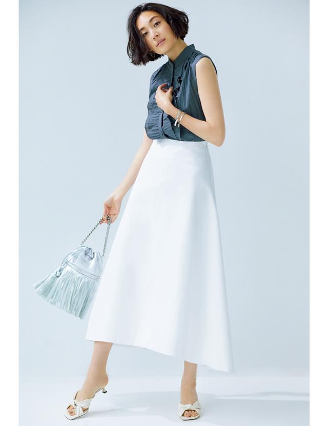 白ロングスカート