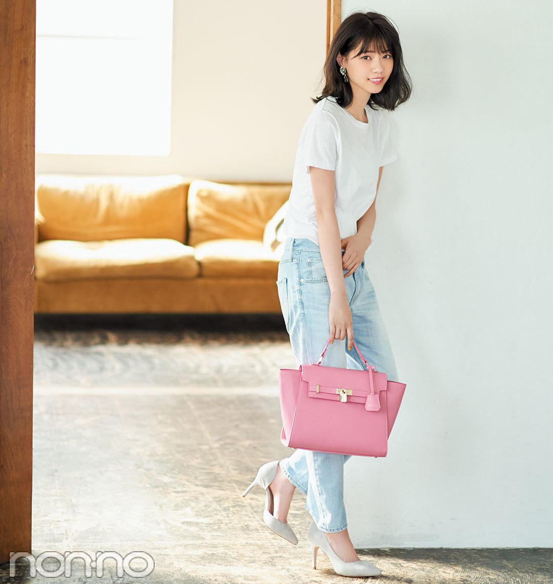 西野七瀬がお手本! いつもの服が+ピンクでこなれ見え3スタイル_1_3