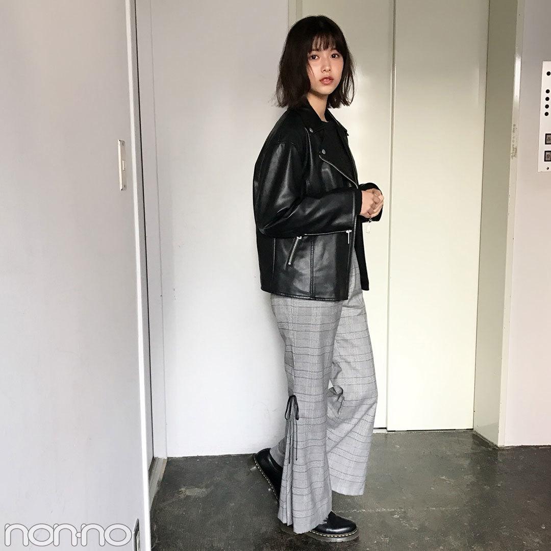 渡邉理佐はリリーブラウンのチェックパンツで今っぽコーデ!【モデルの私服】_1_1