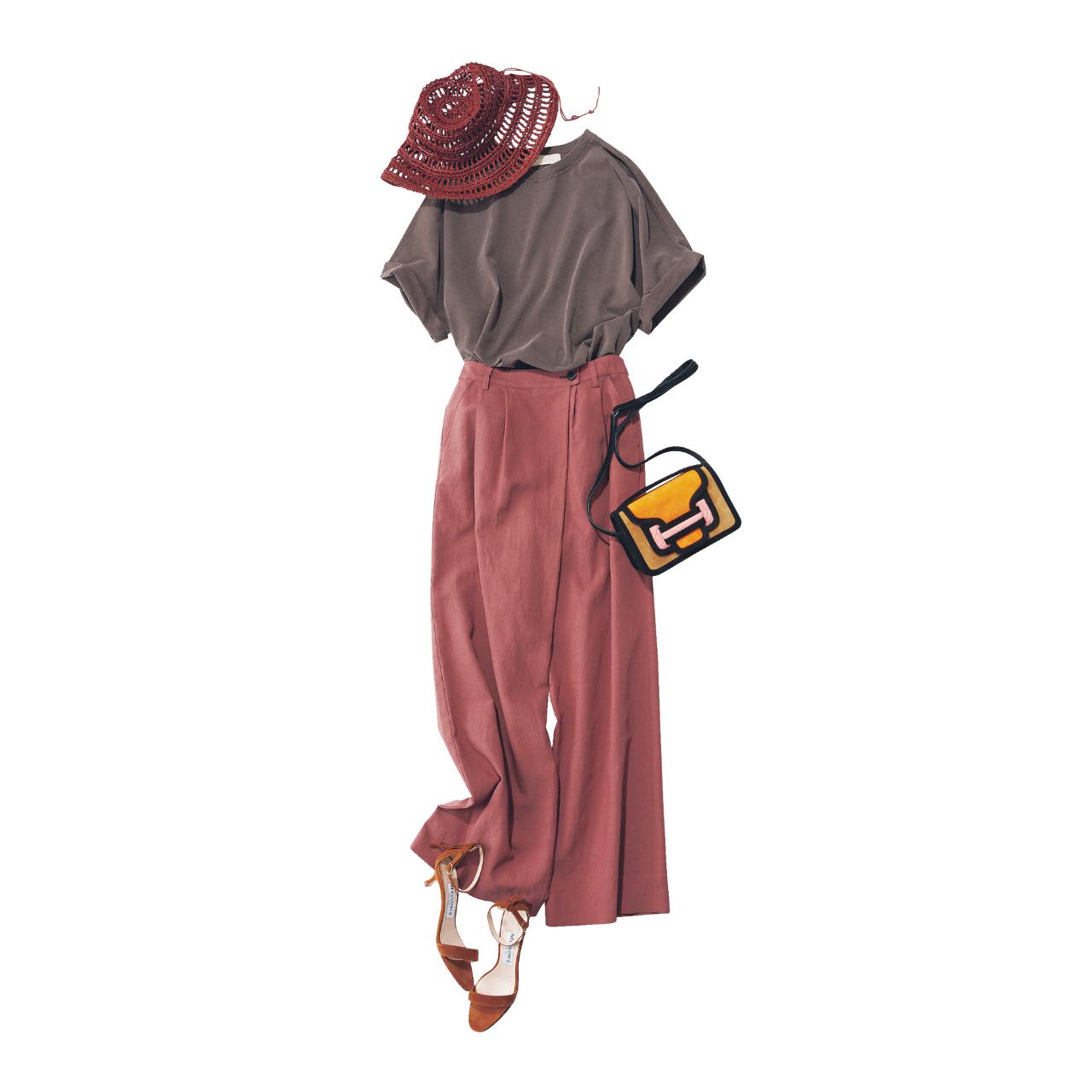 夏のブラウンで品よくこなれる! 大人のプチプラ高見えも叶えるブラウンコーデまとめ 40代ファッション_1_8