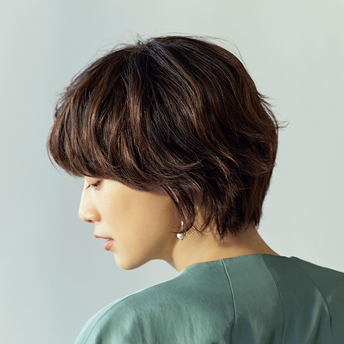 横から見た 人気ヘアスタイル2位の髪型