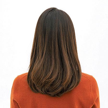 深刻なダメージヘアも、透けないカラーと内巻きカットでツヤ復活【40代のロングヘア】_1_3