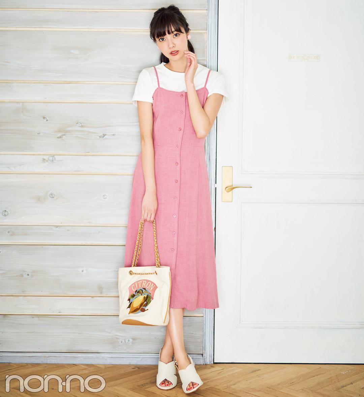 新川優愛、白の無地Tシャツを5通りに着回す!_1_2-2