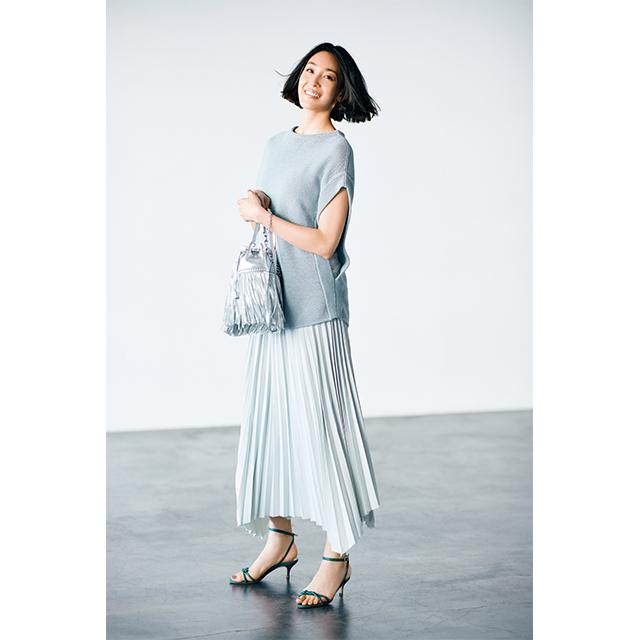 着やせルール アシンメトリーなスカートで斜め線をつくる
