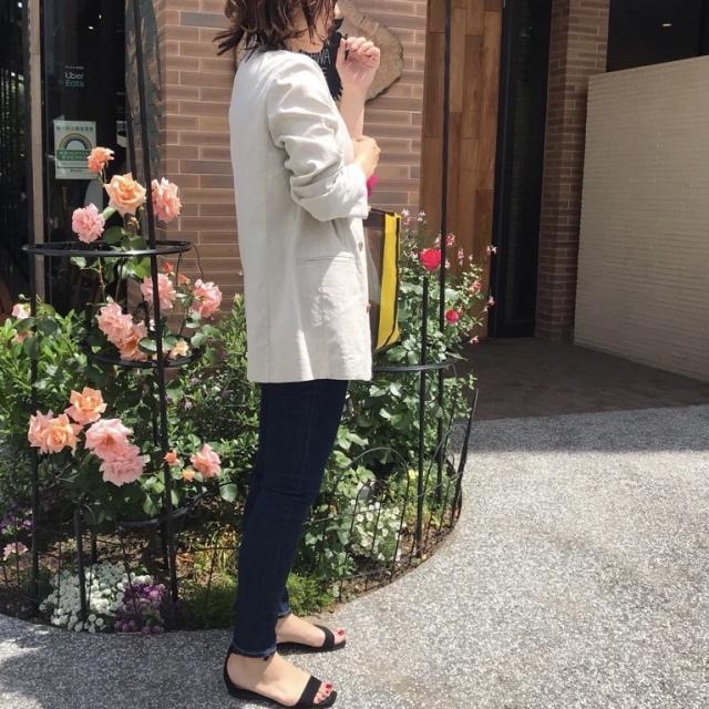 ロゴTにジャケットは、キレイ目カジュアルな絶妙なバランス♡_1_3