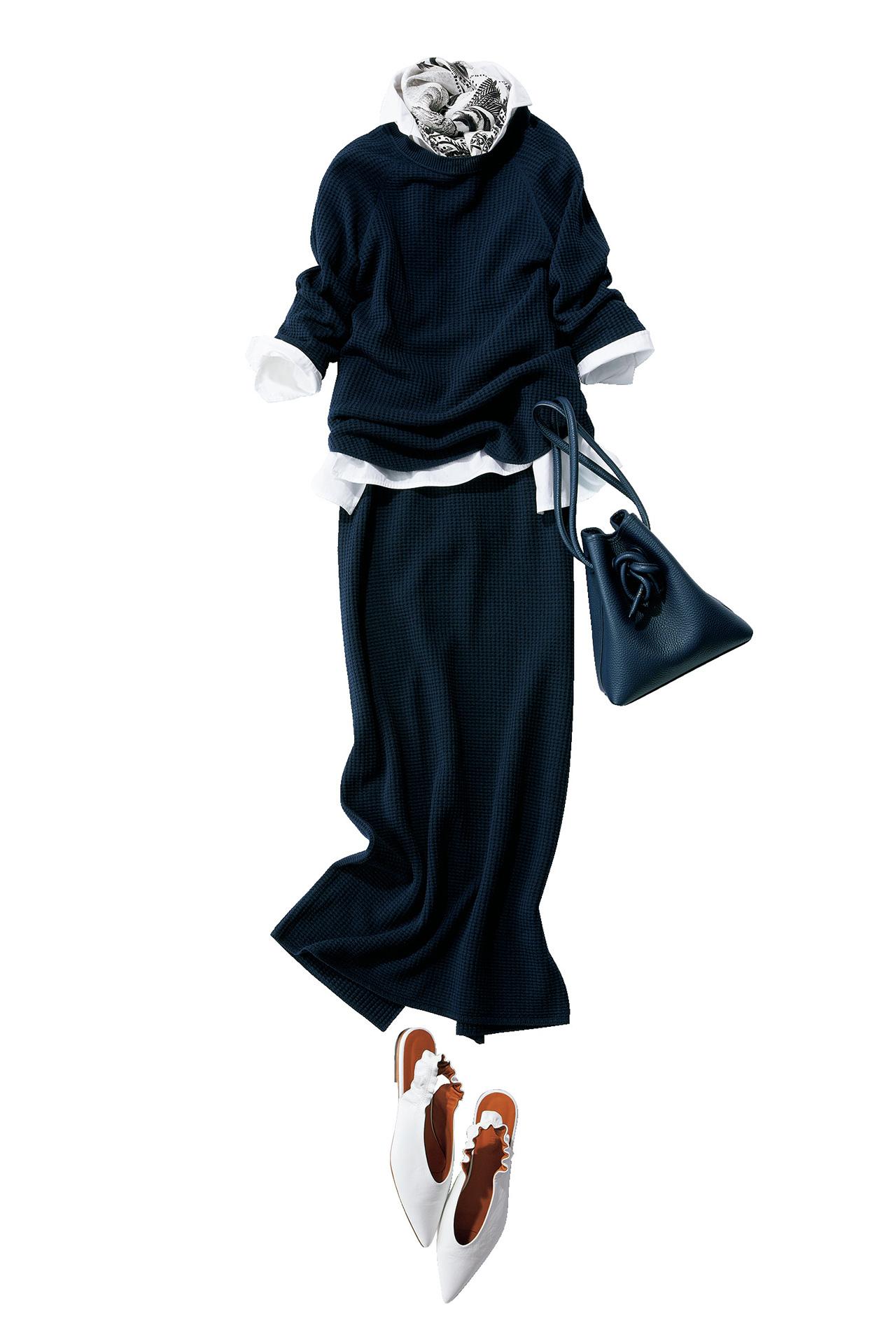 着るだけで女性らしく。ワンピース見えニットアップ 五選_1_1-2