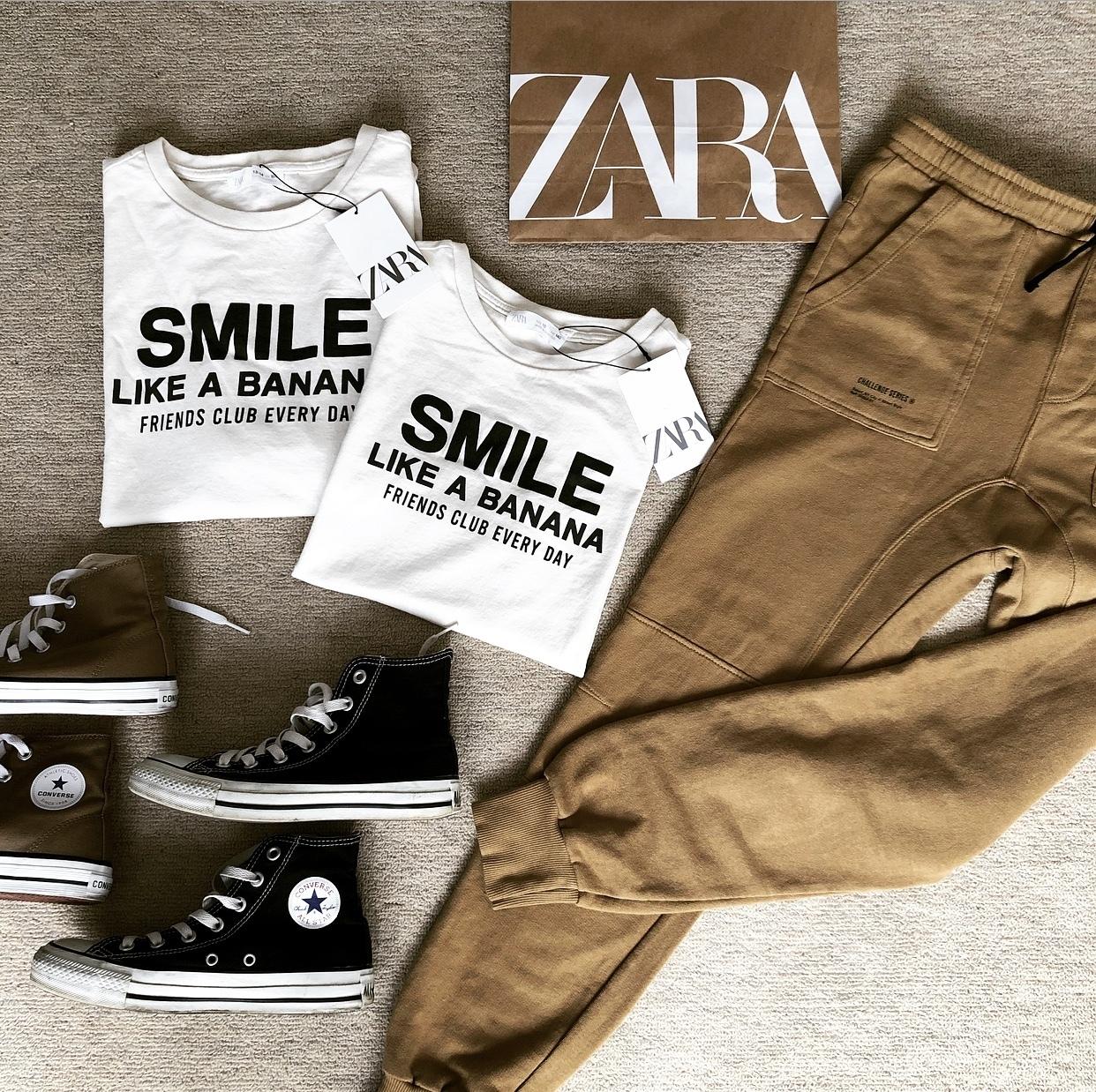 ZARAのキッズTシャツ