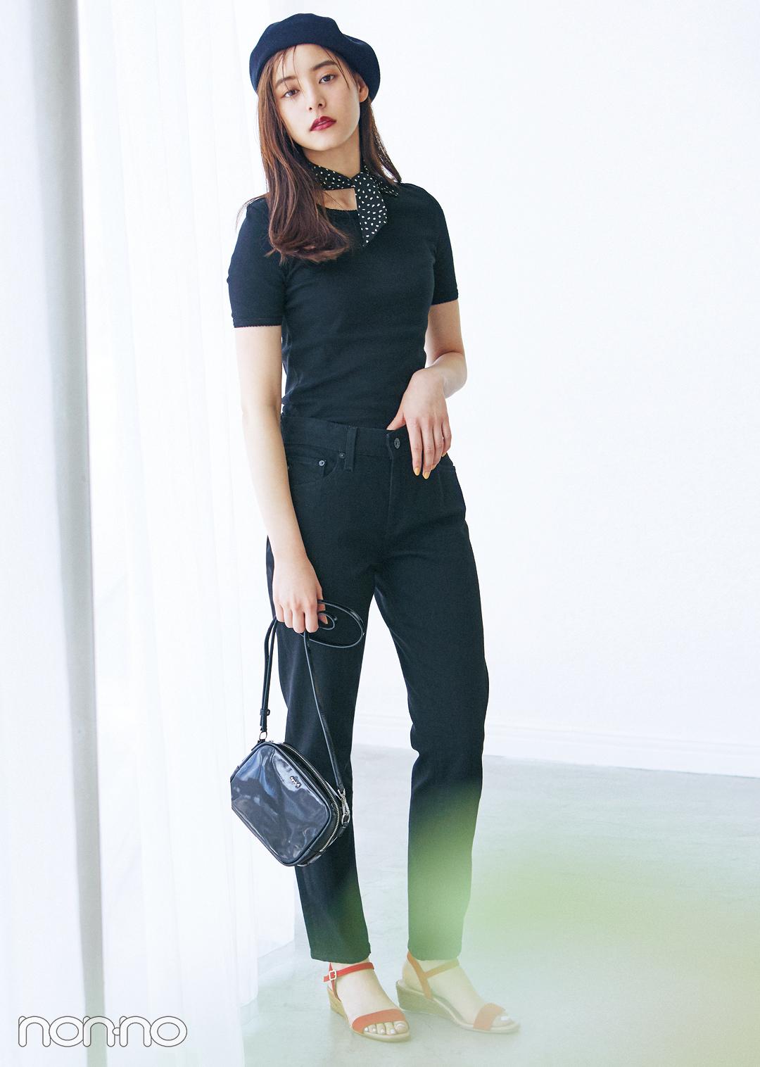 新木優子の最新黒コーデ♡ 赤を効かせてフレンチシックなスタイルに!_1_2