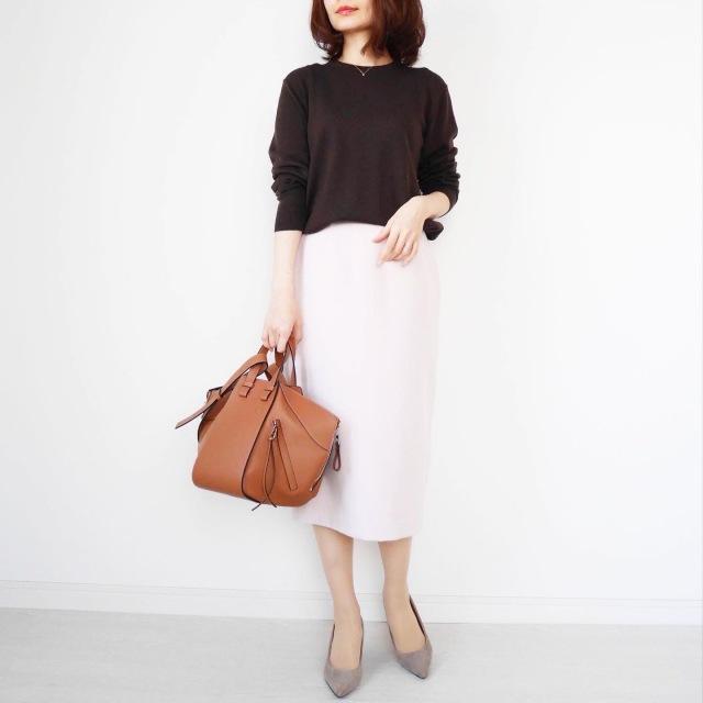 大人が似合う淡ピンク♡美シルエットタイトスカート【tomomiyuコーデ】_1_5