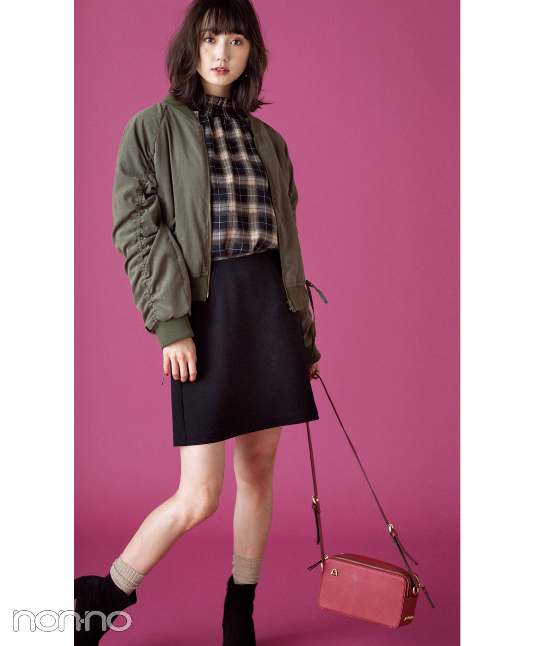 【GUのスカート】台形ミニをヘルシーに着こなしてカッコ可愛く!