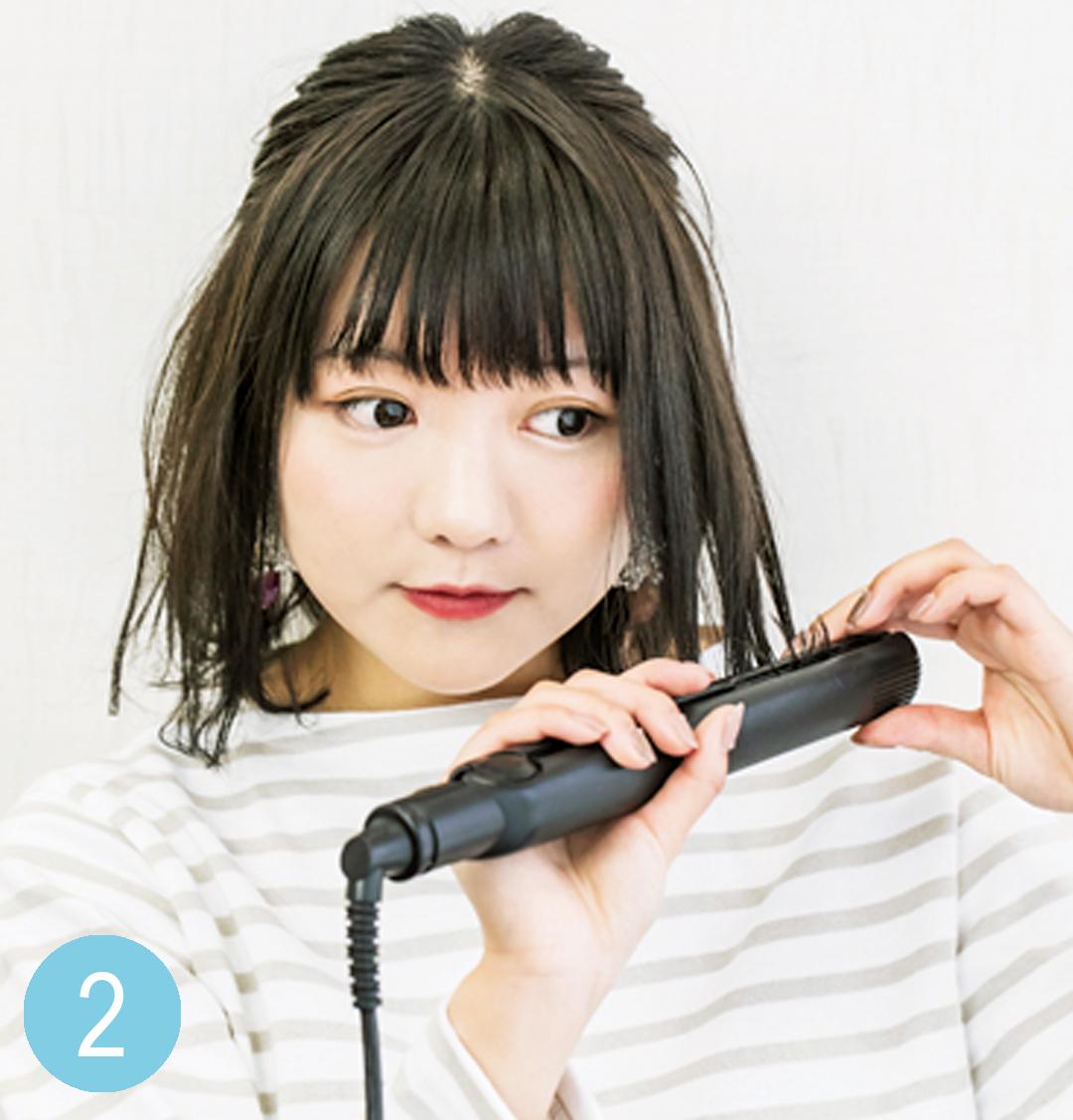 簡単ヘアアレンジ★ 外ハネ&ハーフアップで小顔に!【カワイイ選抜】_1_3-2