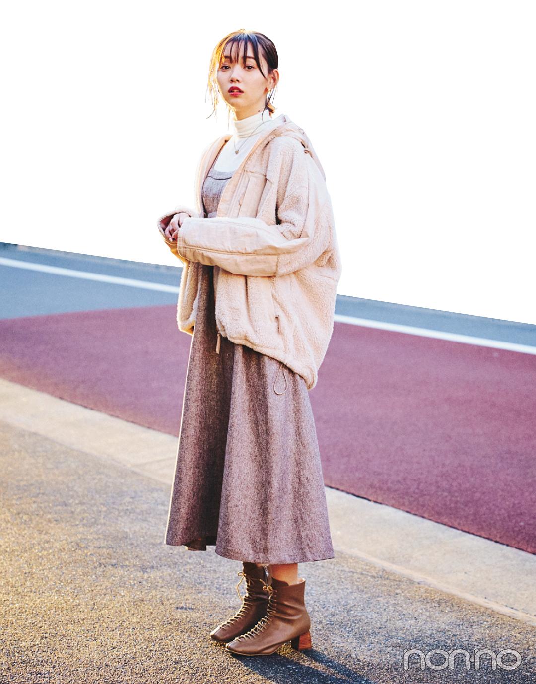 江野沢愛美の冬私服♡ ZARAのブラウスを効かせたガーリーコーデに注目!_1_3