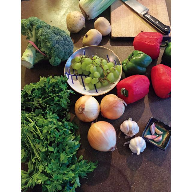 毎日作った野菜スープの材料。