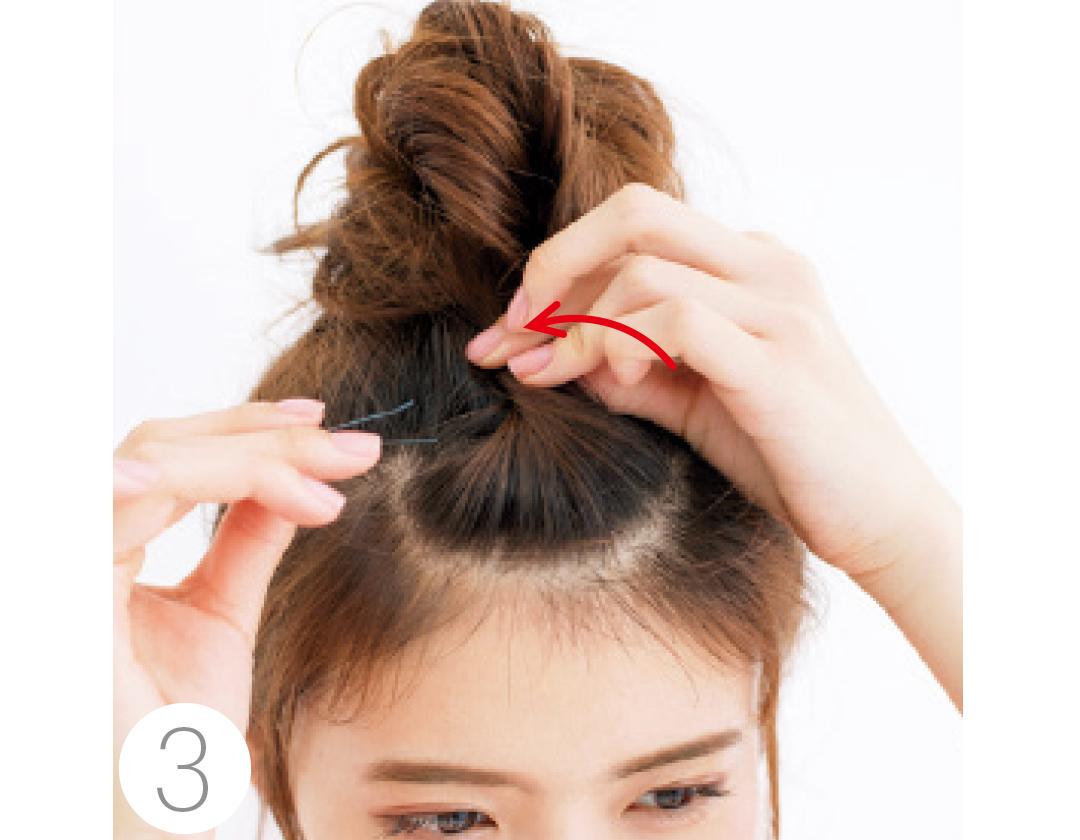 触角&襟足の後れ毛残しで、夏のまとめ髪アレンジは小顔化できる!_1_3-3
