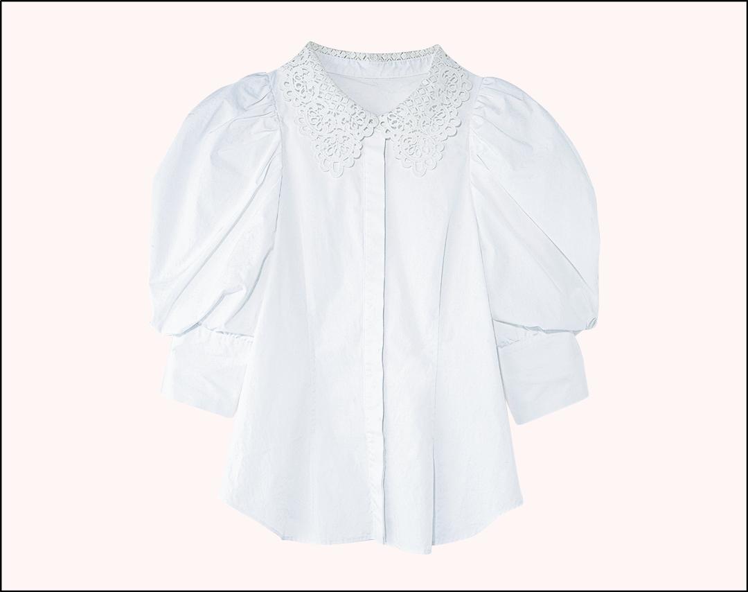 紺野彩夏の購入品 SNIDEL レースカラーシャツ