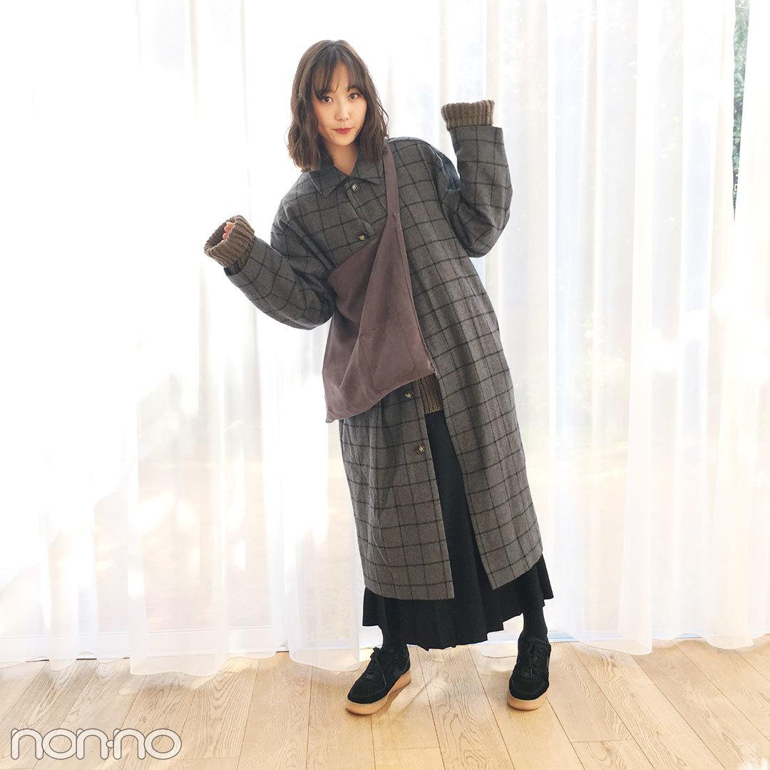 鈴木友菜はKBFのチェック柄コートでゆるずるあったかコーデ♡ 【モデルの私服スナップ】_1_1
