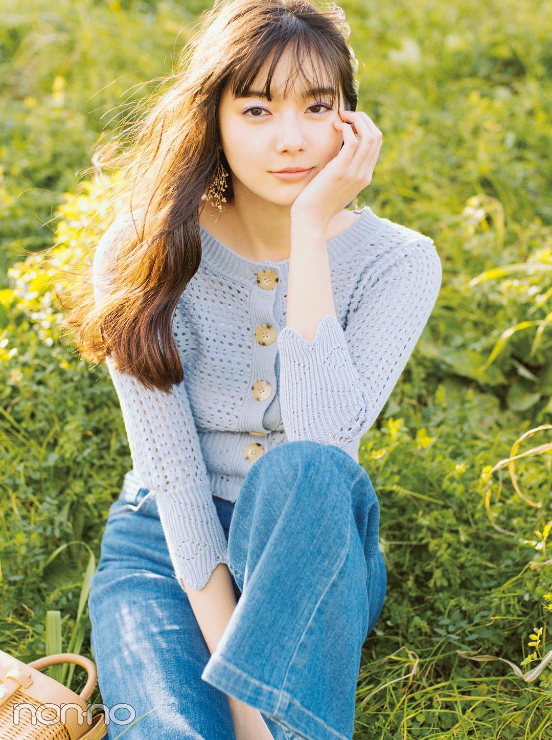 新川優愛の最新春デニムコーデ♡ 今季は+透かし編みニットが可愛い!_1_1