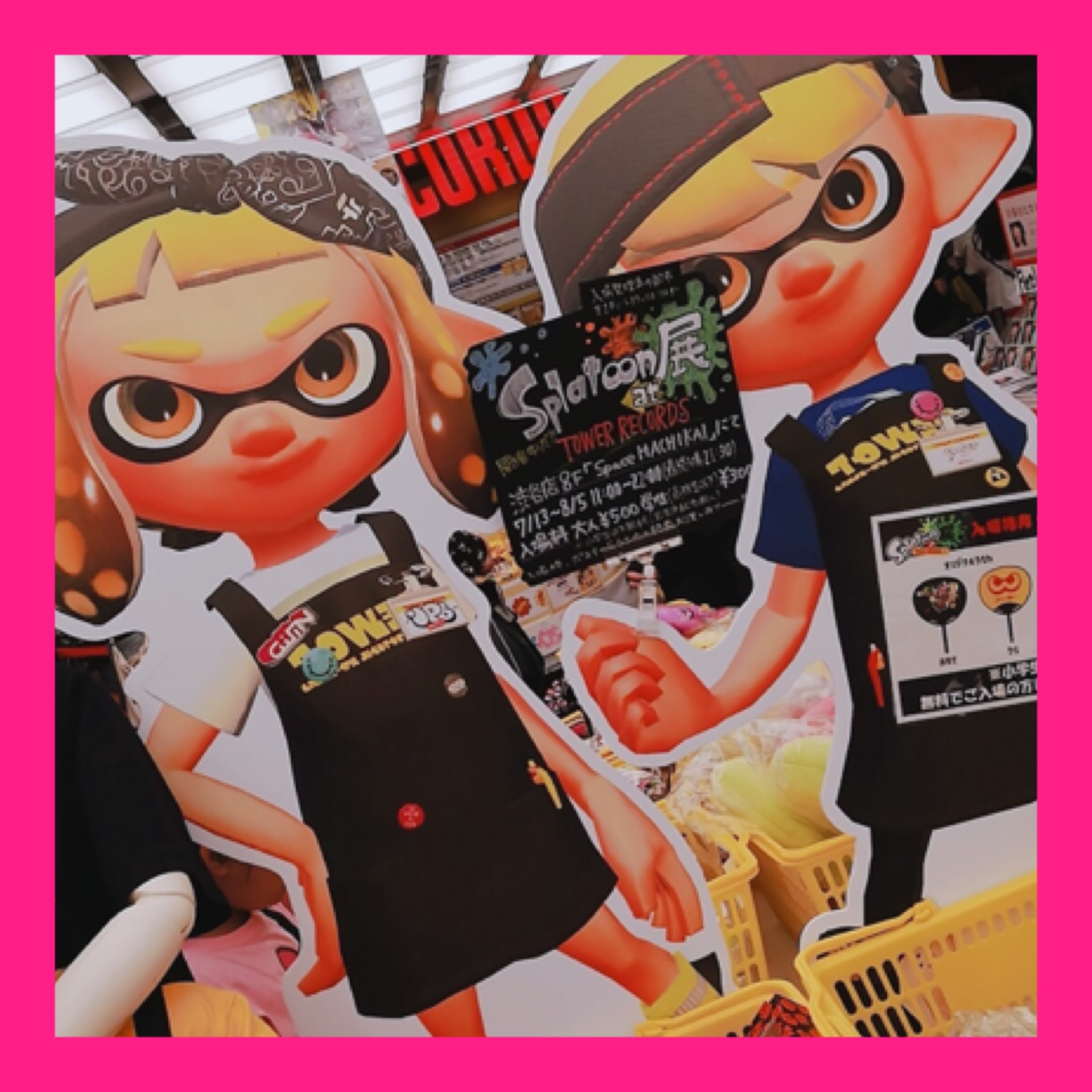 【Splatoon展】Shibuyaタワレコに行ってきました♡_1_1-1