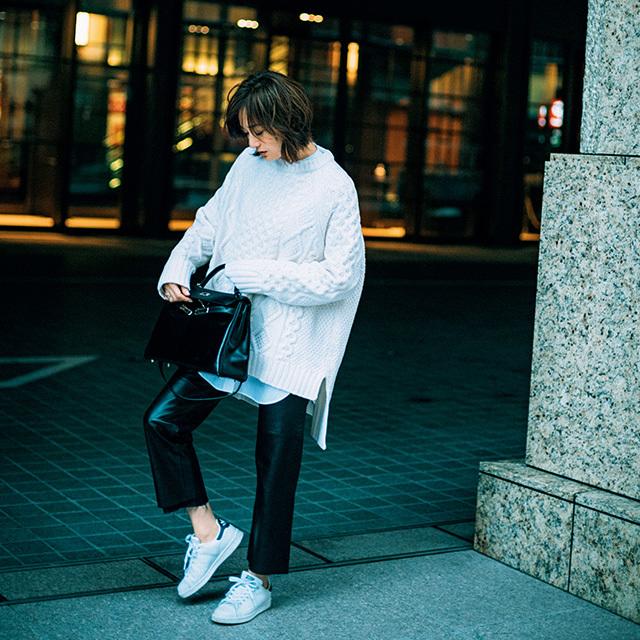 【富岡佳子 ファッションは私の生き方です。】10代から愛用!「アディダスのスタンスミス」_1_2