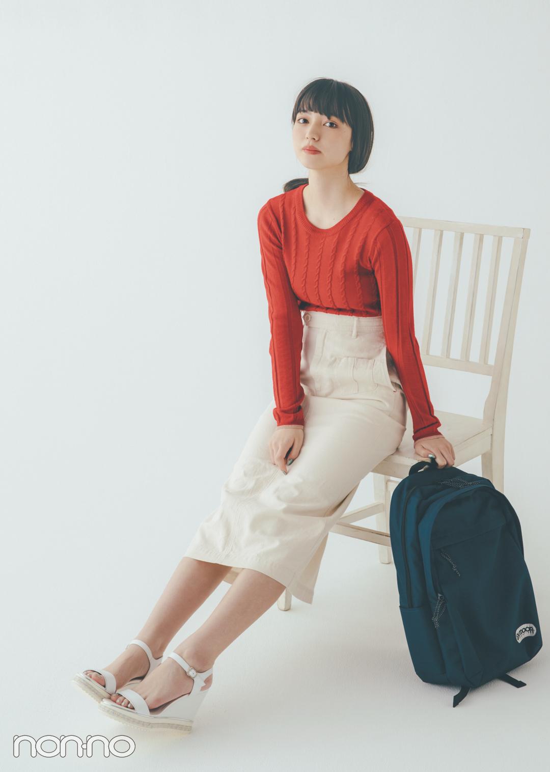 貴島明日香の赤×白×ネイビーがお手本! 好感度&おしゃれ感どっちも♡  _1_3-2