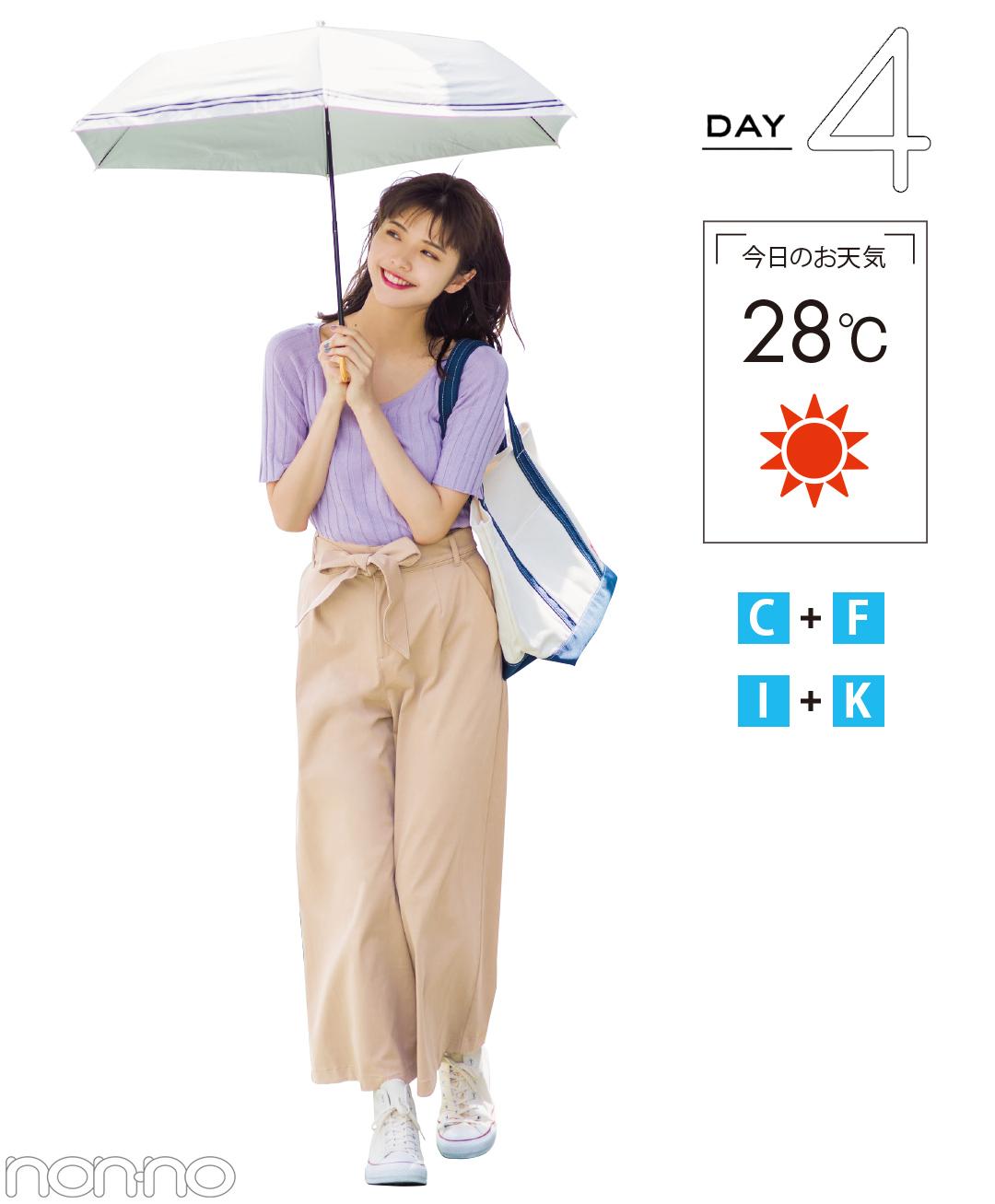 気温差にも梅雨にも負けない! 6月のお天気対応☆快適着回し10days【前半】_1_4-4