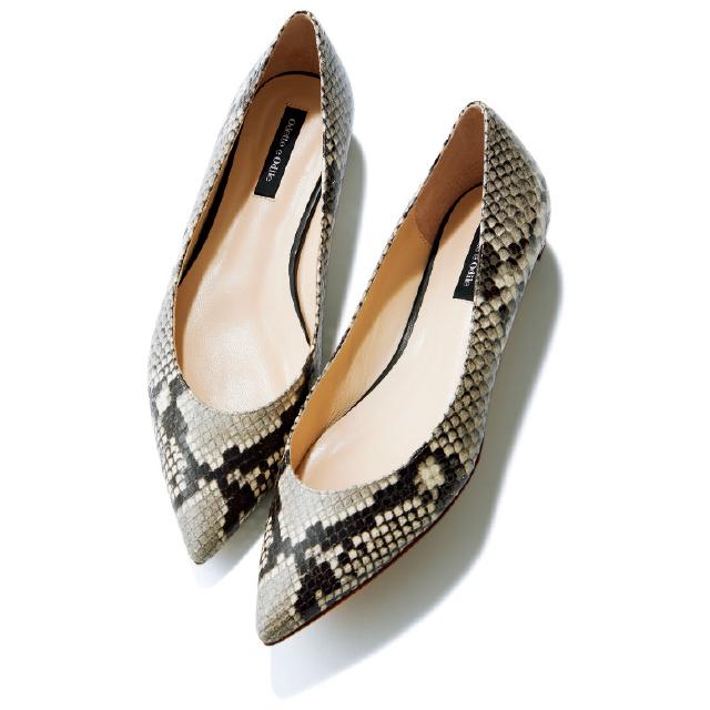 【50代の2020春靴まとめ】ヒールなしでも脚すっきり!ポインテッド&フラット靴のススメ_1_10