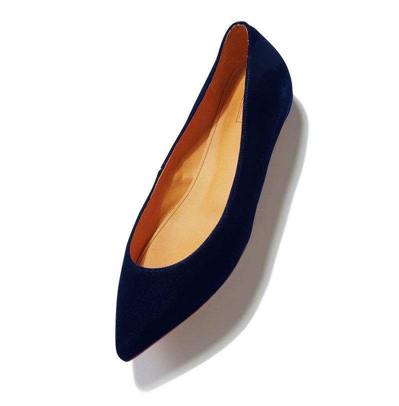 秋らしい素材、 モチーフを選択肢に。とんがりフラット靴9選_1_1-9