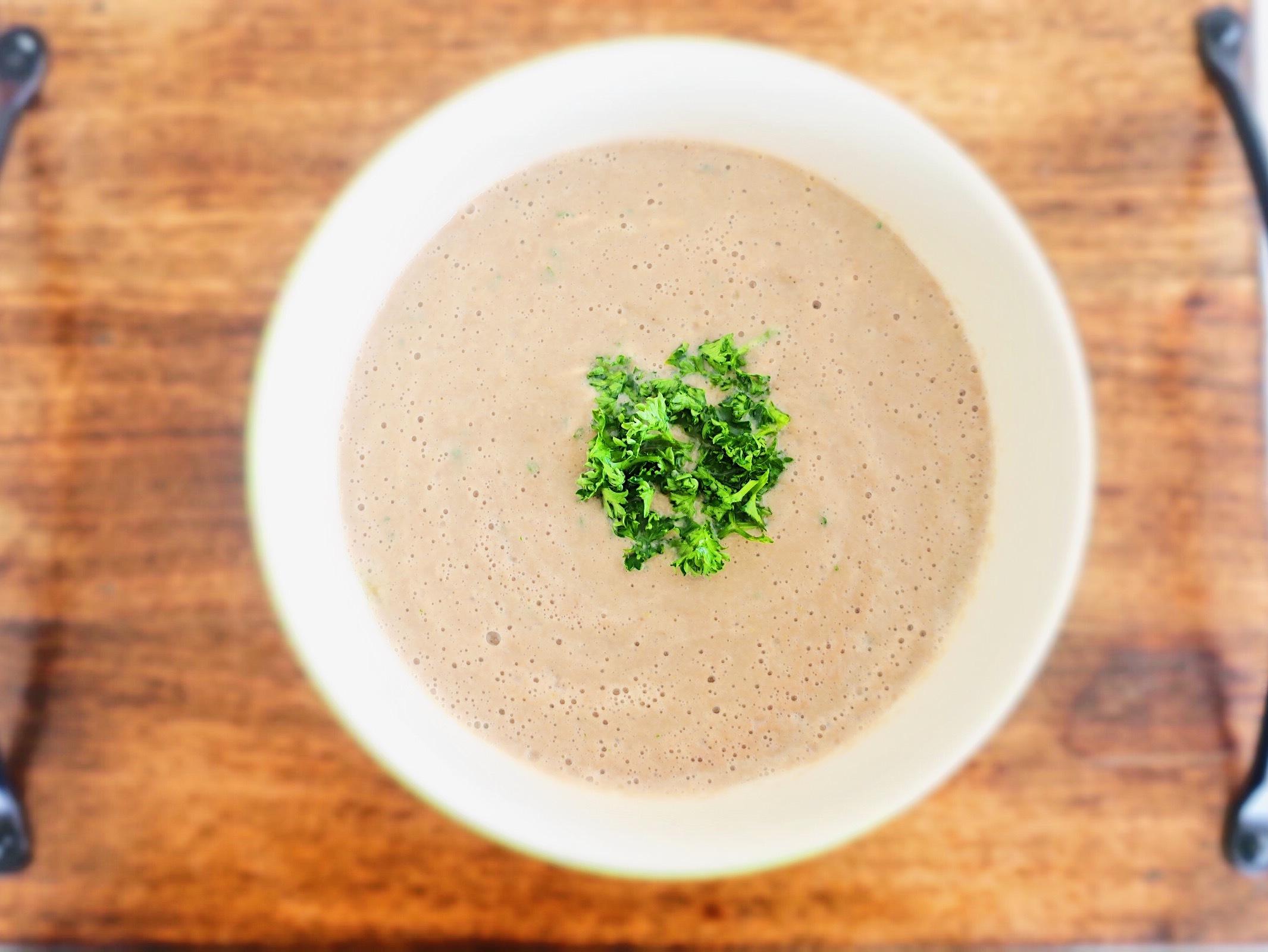 デトックス効果抜群のマッシュルームとごぼうの豆乳ポタージュスープ_1_1