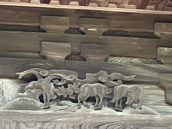 干支の彫刻