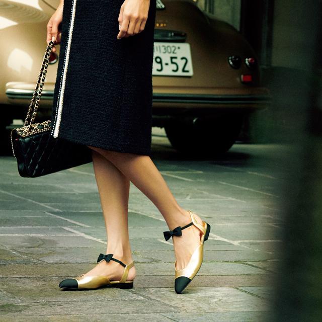 ひとくせフラット靴